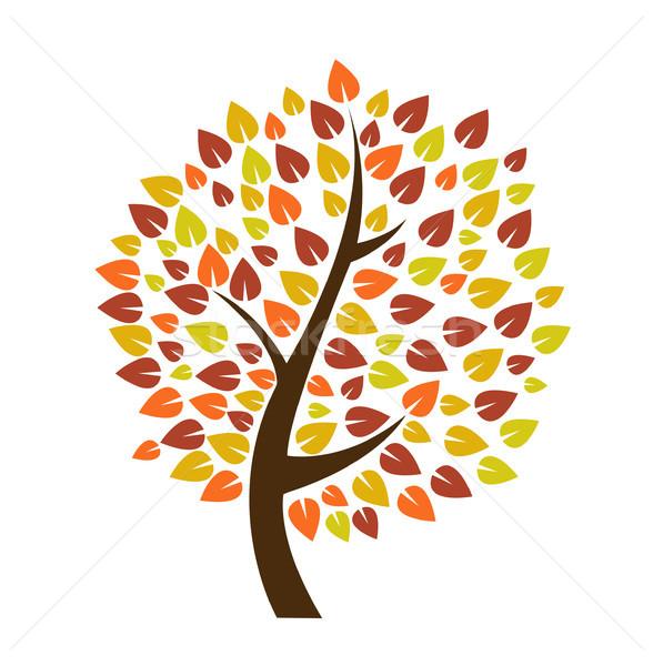 Autunno albero icona natura design foglia Foto d'archivio © nezezon