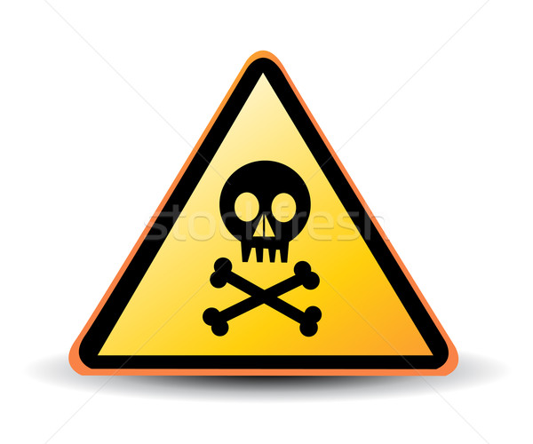 vector danger sign with skull symbol Stock photo © nezezon
