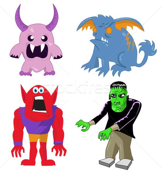 Monster and Character Set Stock photo © nezezon
