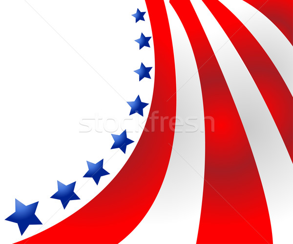 USA flag in style vector  Stock photo © nezezon