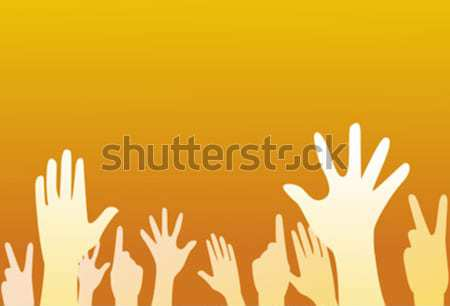 Clubbing mensen handen menigte nacht club Stockfoto © nezezon