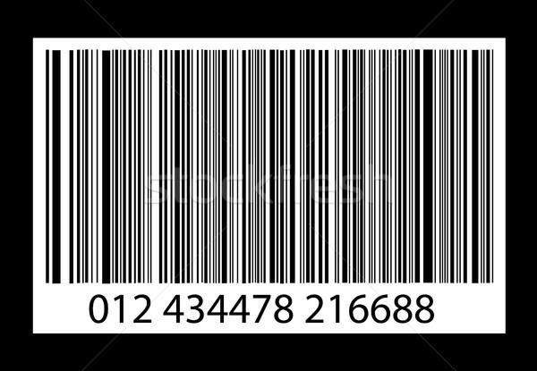 Bar-code on black Stock photo © nezezon