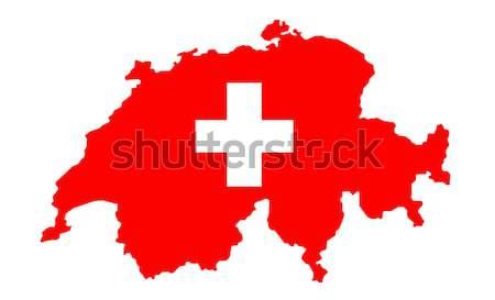 Harita bayrak kırmızı basit vektör örnek Stok fotoğraf © nezezon