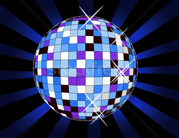 Retro discoteca ilustração música projeto diversão Foto stock © nezezon