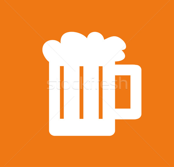 vector illustration of a glass of beer Stock photo © nezezon
