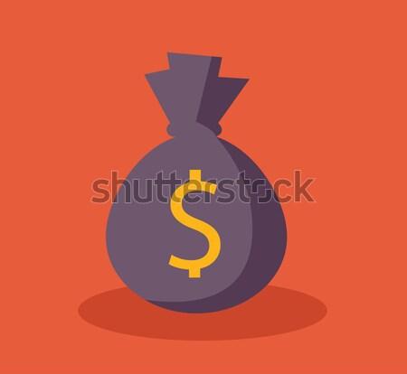 Pénz táska ikon dollár usd valuta Stock fotó © nezezon