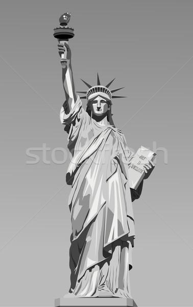 vector illustration of statue of liberty  Stock photo © nezezon