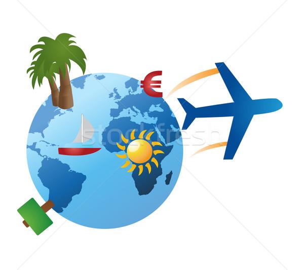 travel objects vector Stock photo © nezezon