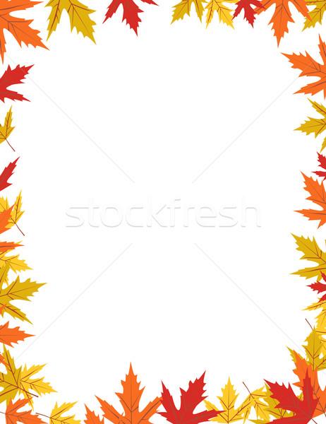 Autumn border design vector illustration Stock photo © nezezon
