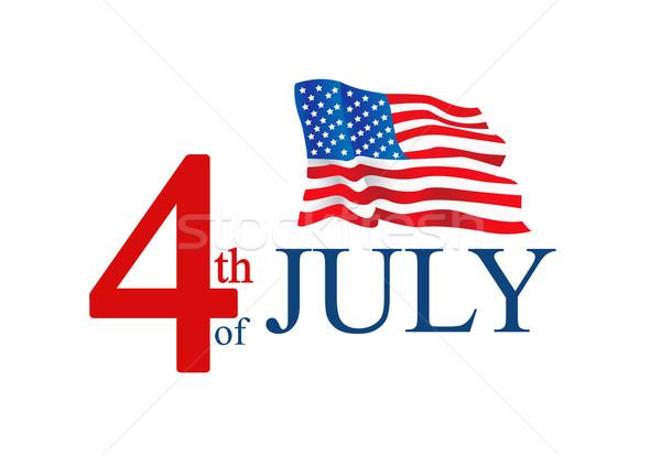 Illusztráció negyedike amerikai zászló buli háttér zászló Stock fotó © nezezon