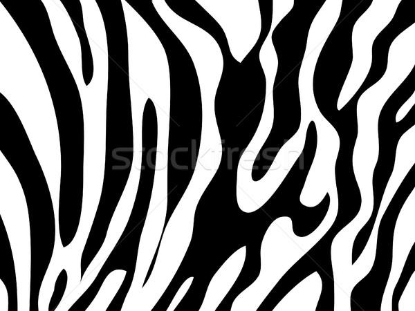 Zèbre texture blanc noir imprimer noir peau Photo stock © nezezon