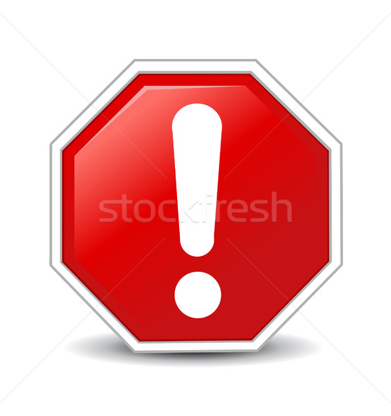 Stock photo: Red Exclamation Sign