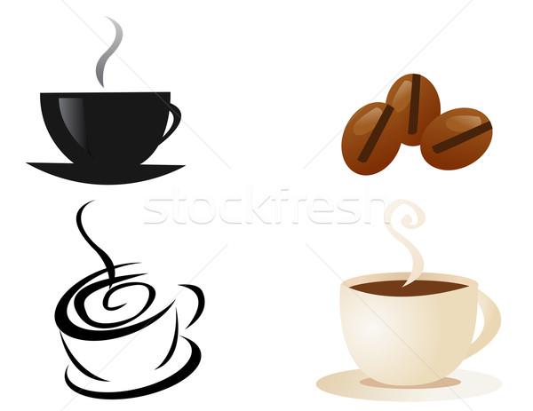 Filiżankę kawy dymu restauracji Kafejka kubek hot Zdjęcia stock © nezezon
