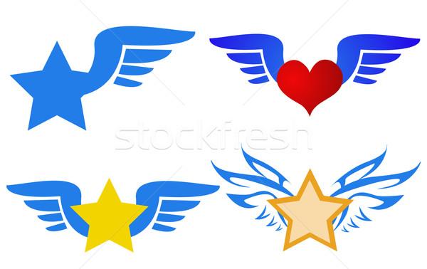 flying logos vector Stock photo © nezezon