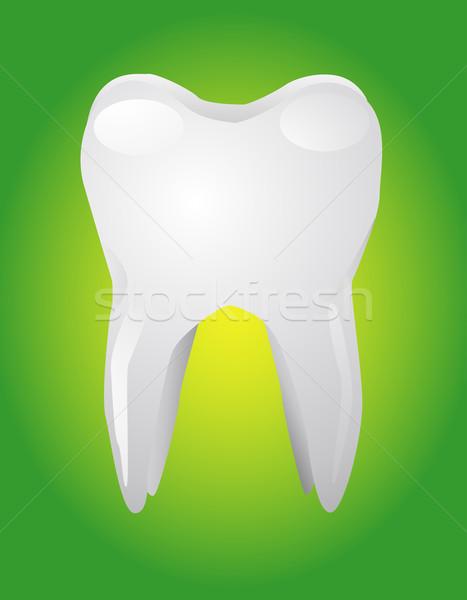 Vector illustration of white tooth Stock photo © nezezon