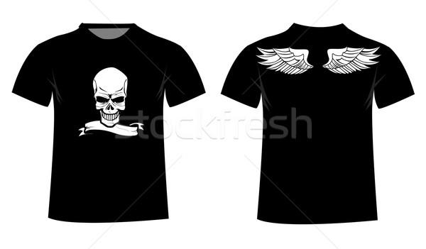 Rövidujjú póló terv férfi ipar nyomtatott sötét Stock fotó © nezezon