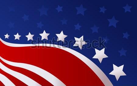 USA zászló stílus vektor háttér csillag Stock fotó © nezezon