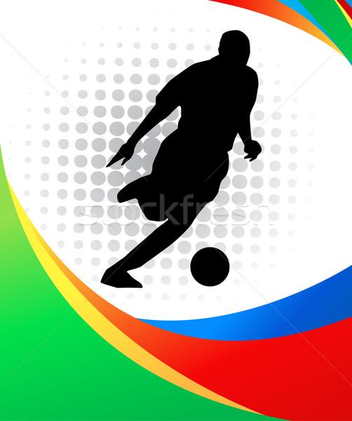 スポーツ デザイン フラグ チーム ゲーム ストックフォト © nezezon