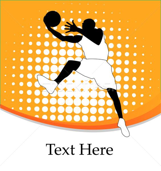 Fitness esportes saltar energia silhueta Foto stock © nezezon