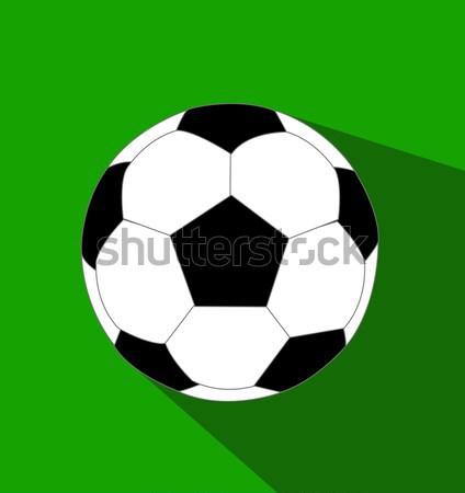 Soccer ball vector illustration Stock photo © nezezon