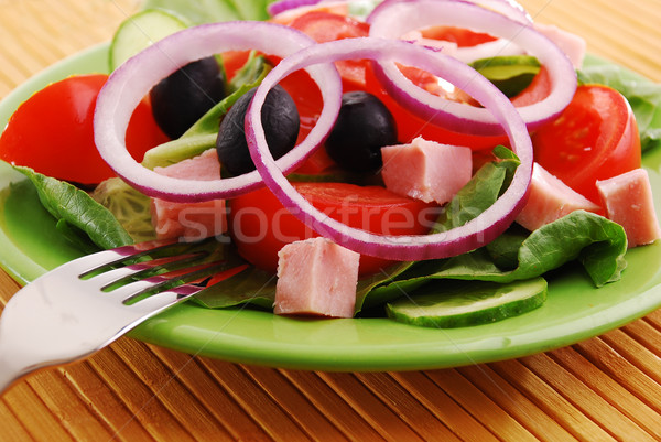 新鮮な野菜 食品 健康 表 油 ストックフォト © nezezon