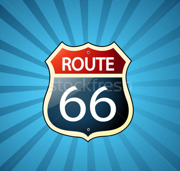 Route 66 podpisania tle autostrady ruchu transportu Zdjęcia stock © nezezon