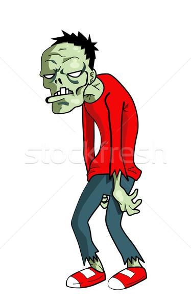 Desenho animado zumbi ilustração verde morto férias Foto stock © nezezon