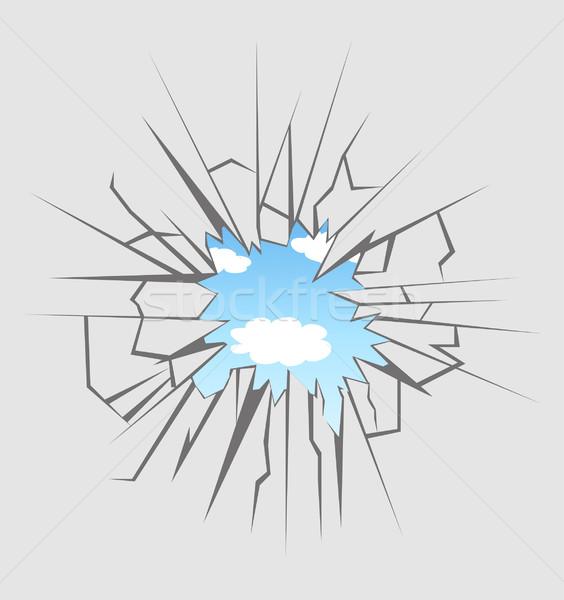 Crushed glass  Stock photo © nezezon