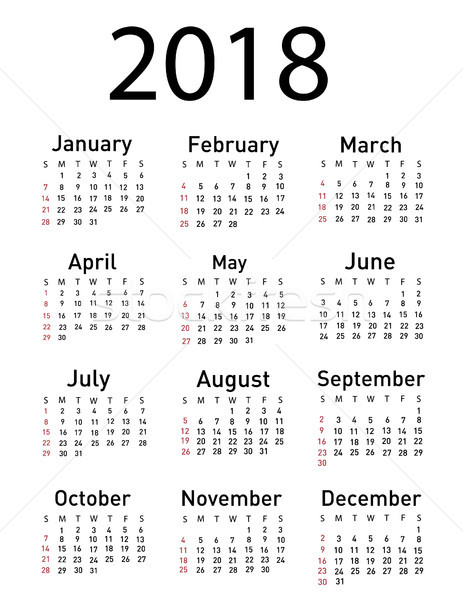 Calendario ufficio tempo autunno bianco diario Foto d'archivio © nezezon