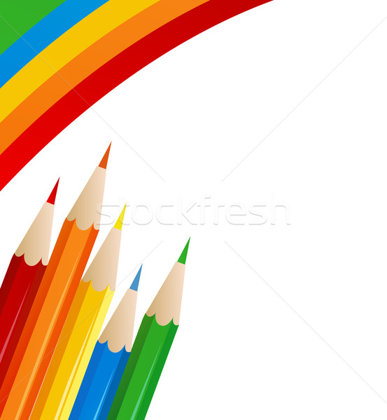 Abstract retro vettore vernice matite business Foto d'archivio © nezezon