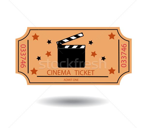 cinema tickets vector illustration  Stock photo © nezezon