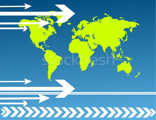 Mapa do mundo negócio luz tecnologia espaço Foto stock © nezezon