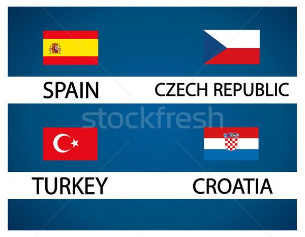 European soccer cup - group D Stock photo © nezezon