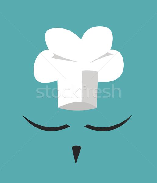 Szakács sapka nagy bajusz menü kártya terv Stock fotó © nezezon