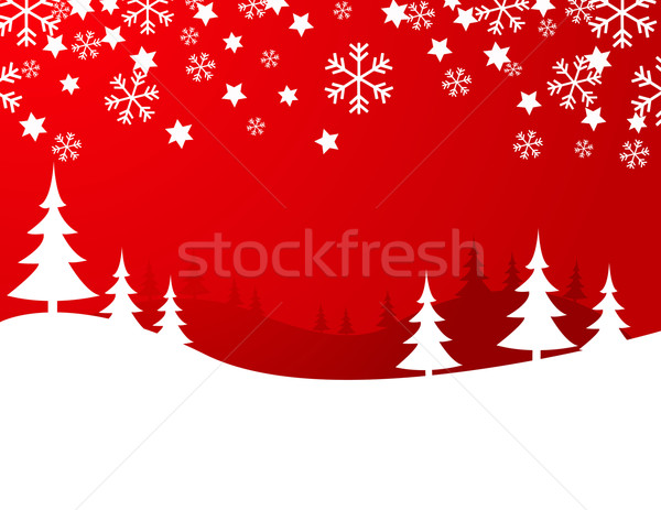 christmas background, vector illustration Stock photo © nezezon