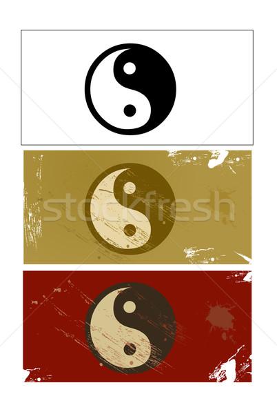 Yin and Yang sign vector Stock photo © nezezon
