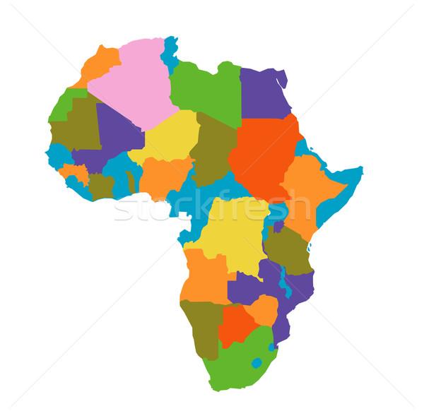 Afrique carte terre pays sol sociale Photo stock © nezezon