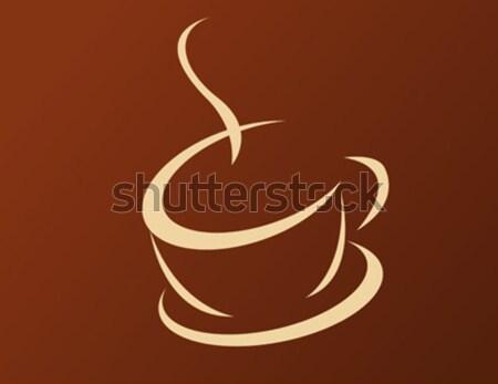 Tazza di caffè fumo ristorante cafe Cup caldo Foto d'archivio © nezezon