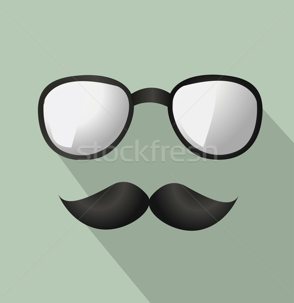 Vector Mustache and Glasses Icon  Stock photo © nezezon