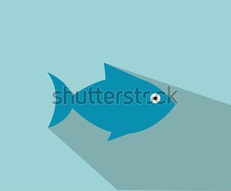 fish symbol Stock photo © nezezon