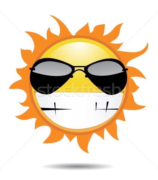 Sol pôr do sol verão espaço pintura cultura Foto stock © nezezon