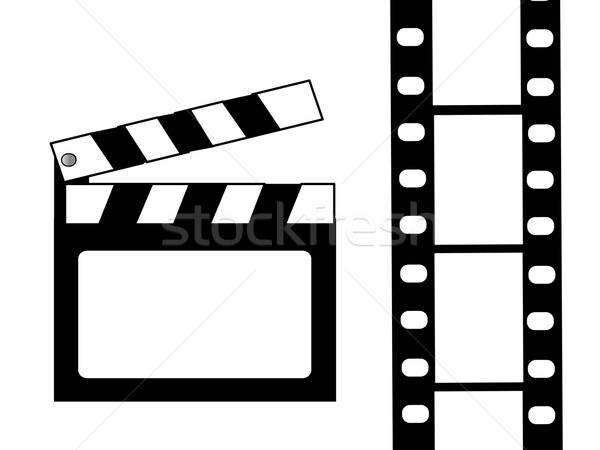 Film vector fundal ecran retro suna Imagine de stoc © nezezon