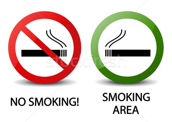 No smoking and smoking area signs Stock photo © nezezon