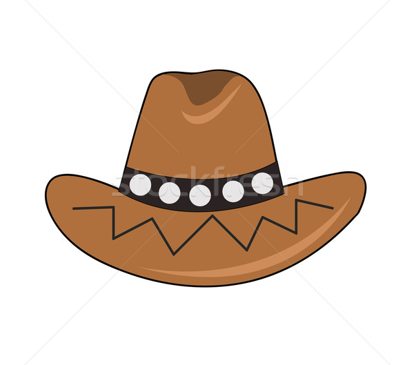 Cowboyhoed mode kleur cowboy persoon grafische Stockfoto © nezezon