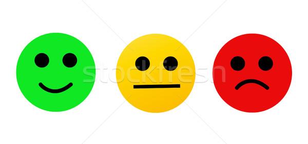 Stockfoto: Moderne · lachend · gelukkig · glimlach · gezicht · ontwerp