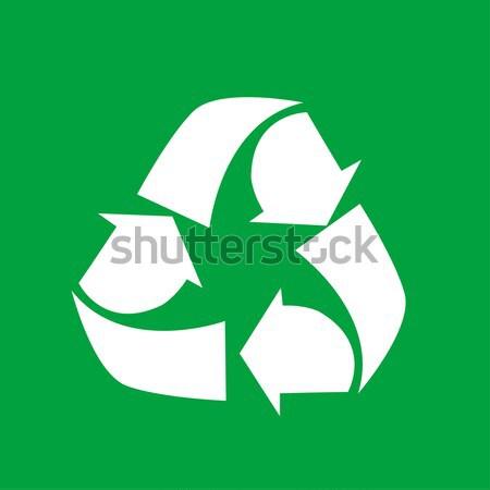Vector illustration of recycling symbol Stock photo © nezezon