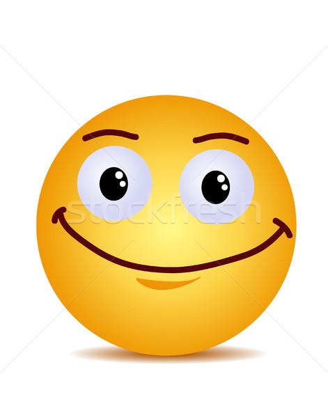 Modern sarı gülme mutlu gülümseme yüz Stok fotoğraf © nezezon