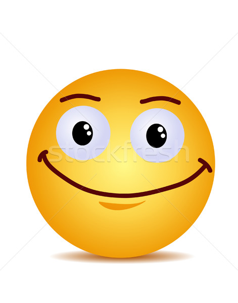 Modern yellow laughing happy smile Stock photo © nezezon