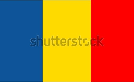 Flag of Romania vector illustration Stock photo © nezezon
