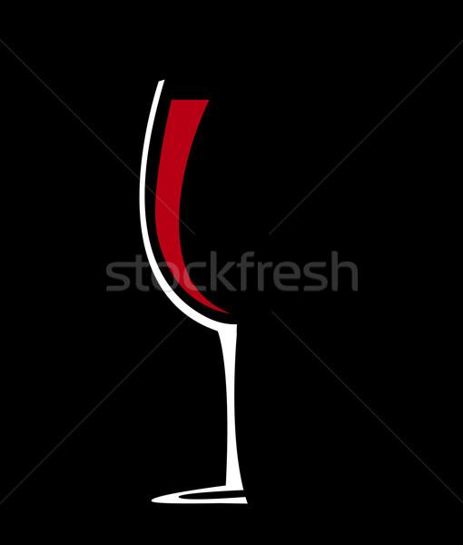 Borospohár ikon bor terv háttér étterem Stock fotó © nezezon
